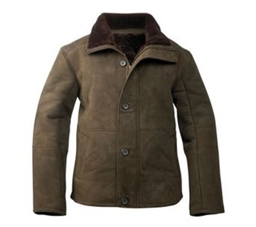 Picture of Alexander Mens Suede Sheepskin Jacket by Wild Goose JDF-ALE